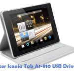 Acer Iconia Tab A1-810 USB Driver