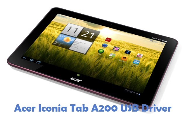 Acer Iconia Tab A200 USB Driver