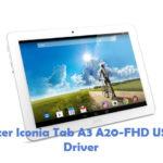 Acer Iconia Tab A3 A20-FHD USB Driver