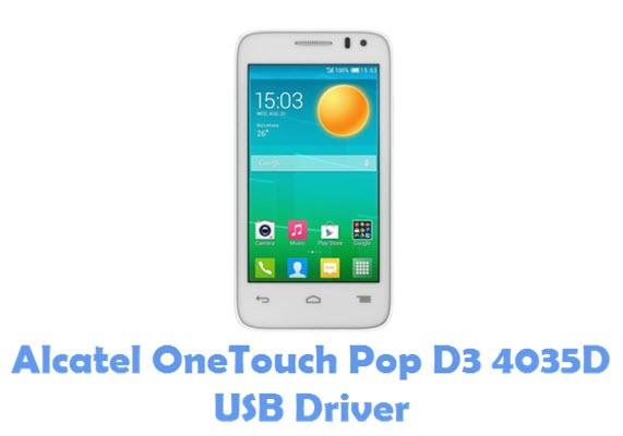 Download Alcatel OneTouch Pop D3 4035D USB Driver