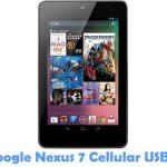Asus Google Nexus 7 Cellular USB Driver