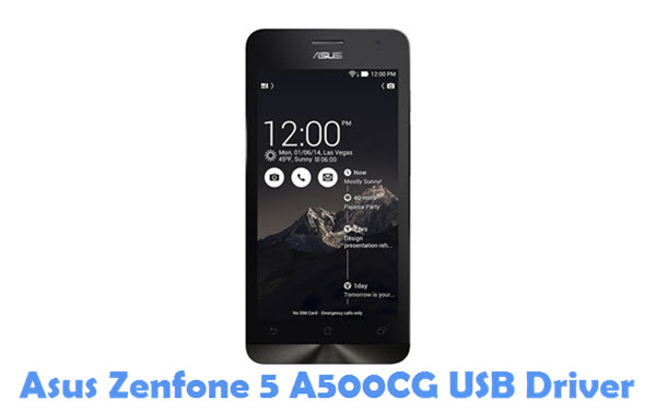 Download Asus Zenfone 5 A500CG USB Driver