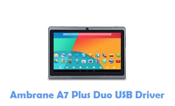 Download Ambrane A7 Plus Duo USB Driver