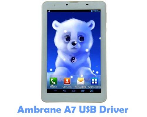 Download Ambrane A7 USB Driver