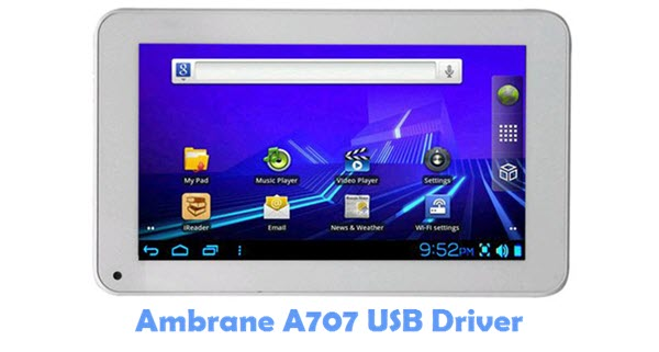 Download Ambrane A707 USB Driver