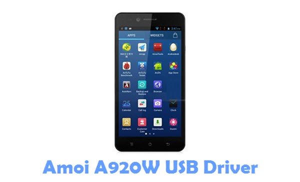Download Amoi A920W USB Driver