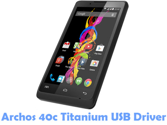 Download Archos 40c Titanium USB Driver