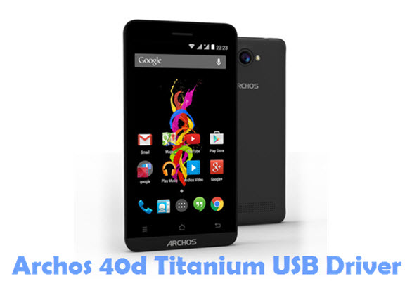 Download Archos 40d Titanium USB Driver
