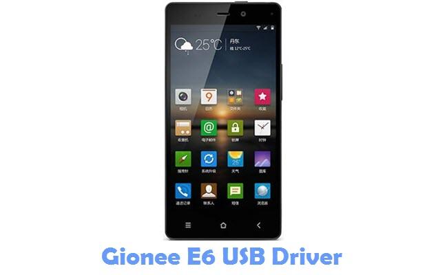 Download Gionee E6 USB Driver