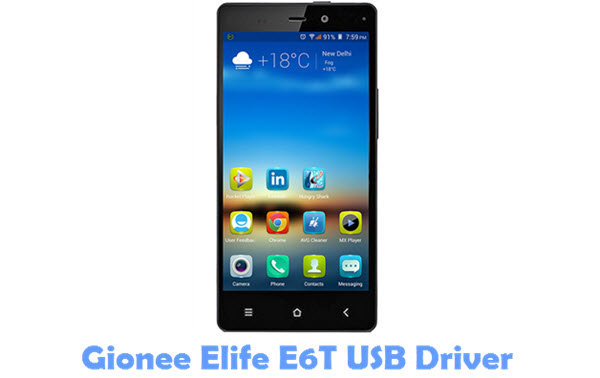 Download Gionee Elife E6T USB Driver