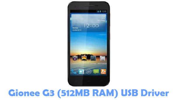 Download Gionee G3 (512MB RAM) USB Driver