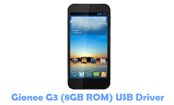 Download Gionee G3 (8GB ROM) USB Driver