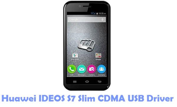 Download Huawei IDEOS S7 Slim CDMA USB Driver
