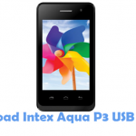 Intex Aqua P3 USB Driver
