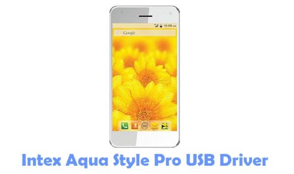 Download Intex Aqua Style Pro USB Driver