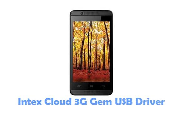 Download Intex Cloud 3G Gem USB Driver