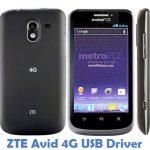 ZTE Avid 4G USB Driver