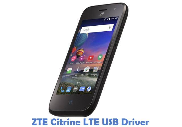 ZTE Citrine LTE USB Driver