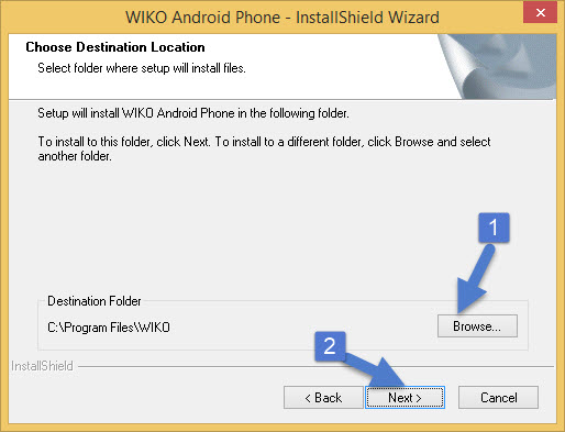 Install Location Wizard