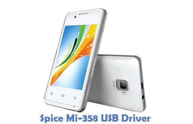 Spice Mi-358 USB Driver