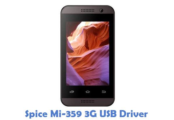 Spice Mi-359 3G USB Driver