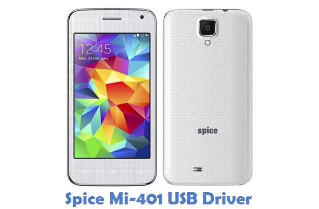 Spice Mi-401 USB Driver