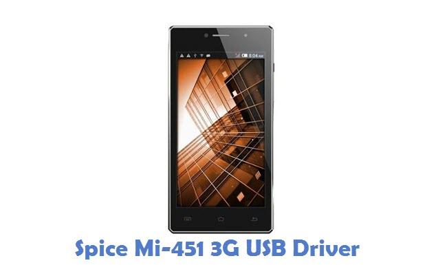 Spice Mi-451 3G USB Driver
