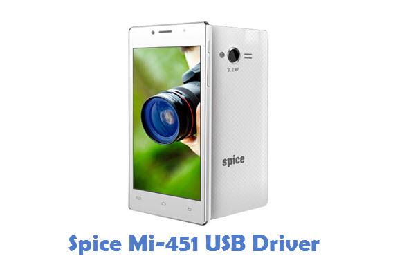 Spice Mi-451 USB Driver