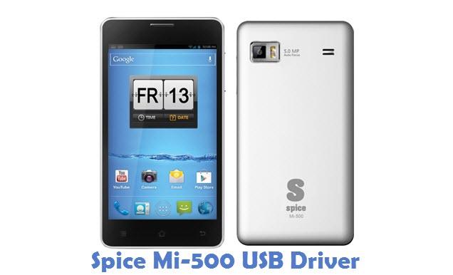 Spice Mi-500 USB Driver
