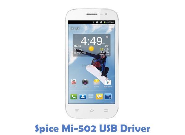 Spice Mi-502 USB Driver