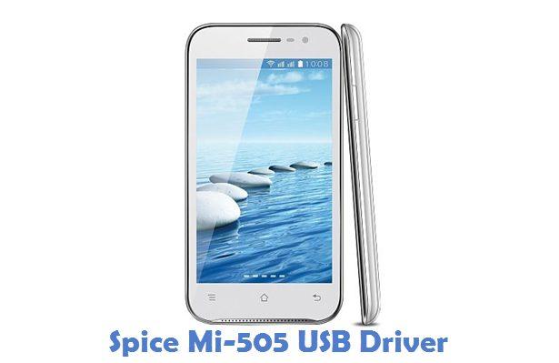 Spice Mi-505 USB Driver