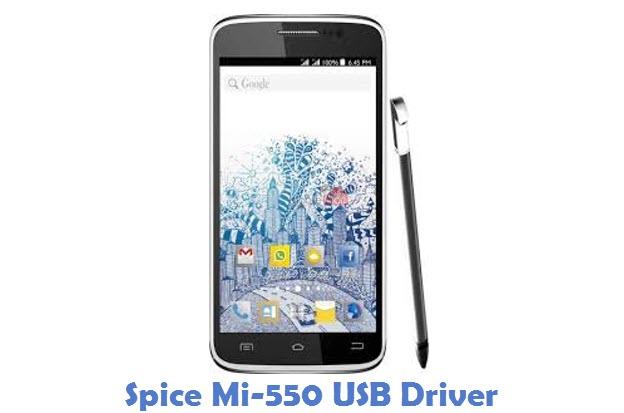 Spice Mi-550 USB Driver