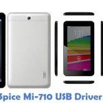 Spice Mi-710 USB Driver