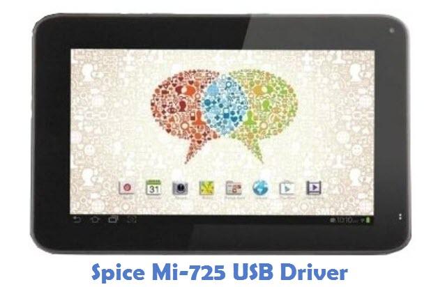 Spice Mi-725 USB Driver