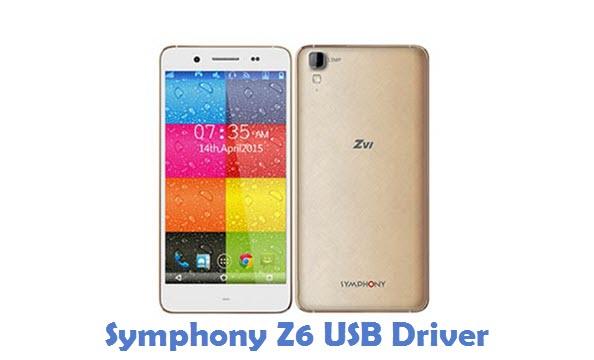 Symphony Z6 USB Driver