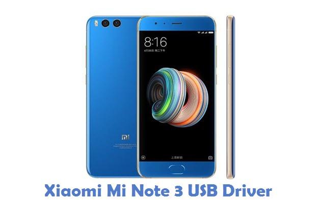 Xiaomi Mi Note 3 USB Driver