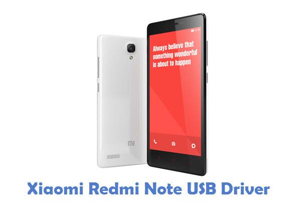 Xiaomi Redmi Note USB Driver