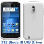 ZTE Blade III USB Driver