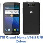 ZTE Grand Memo V9815 USB Driver