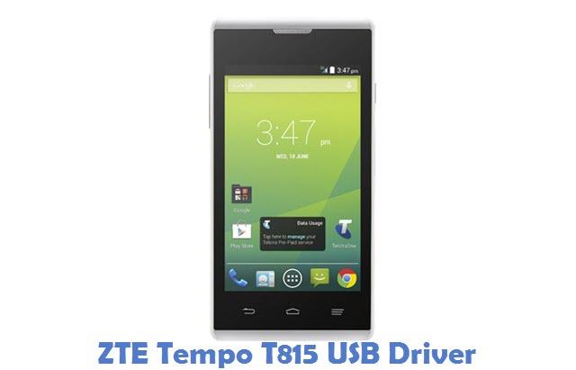 ZTE Tempo T815 USB Driver