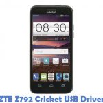 ZTE Z792 Cricket USB Driver