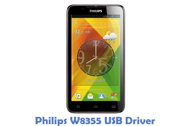 Philips W8355 USB Driver