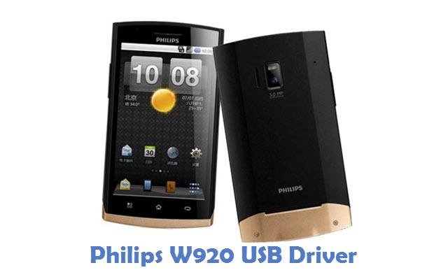 Philips W920 USB Driver