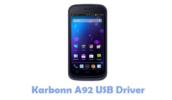 Download Karbonn A92 USB Driver