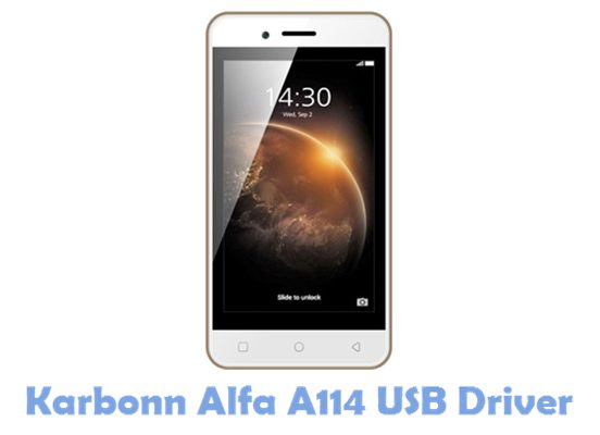 Download Karbonn Alfa A114 USB Driver