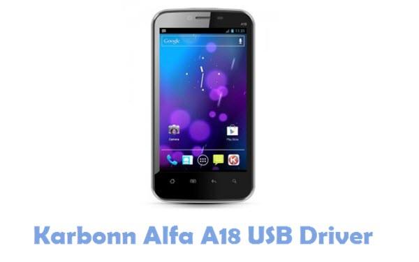 Download Karbonn Alfa A18 USB Driver
