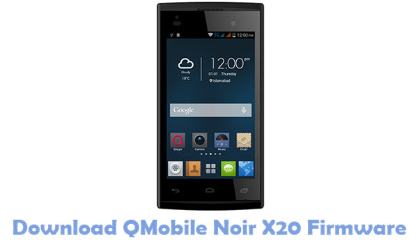 Download QMobile Noir X20 USB Driver