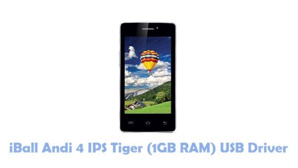 Download iBall Andi 4 IPS Tiger (1GB RAM) USB Driver