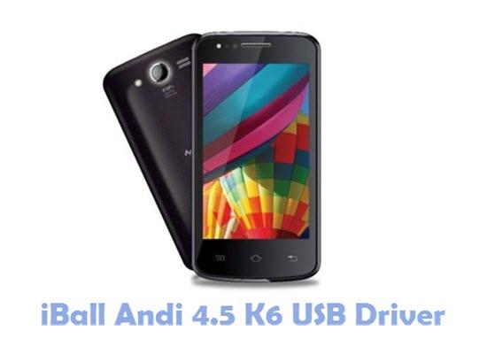 Download iBall Andi 4.5 K6 USB Driver