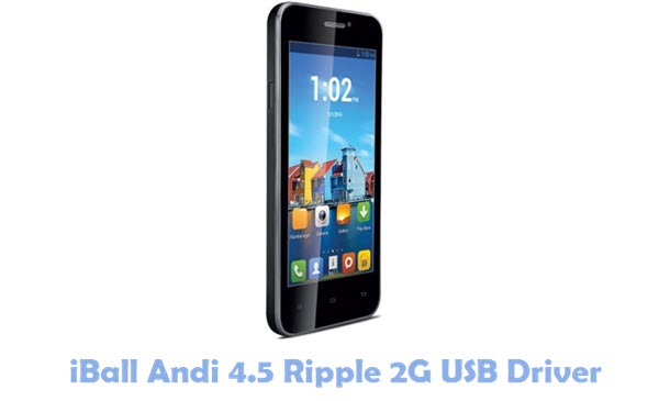 Download iBall Andi 4.5 Ripple 2G USB Driver